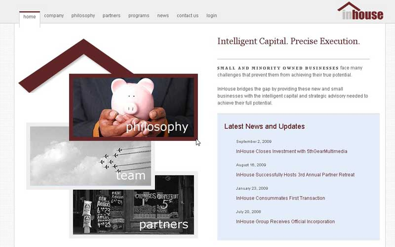 InHouse website picture